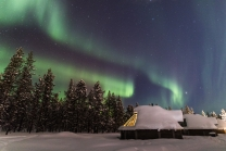 Northern Lights over the Aurora Cabins