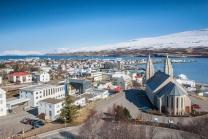 Akureyri in North Iceland