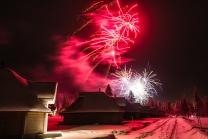 Fireworks at the Northern Lights Village