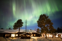 Northern Lights At Nellim Wilderness Lodge