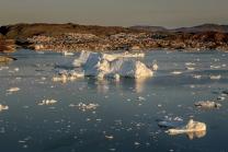Ice Fjord Outside In The Disko Bay