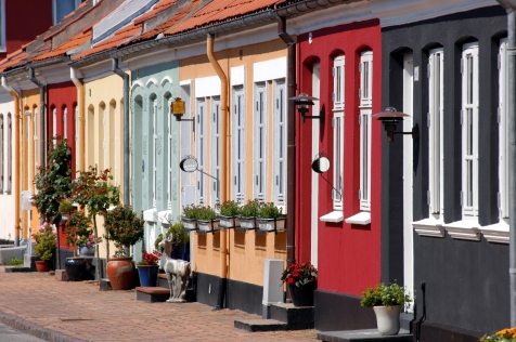 Colourful Houses On Denmark's Second Largest Island