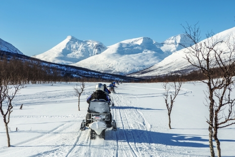 Snowmobiling Fun In Norway