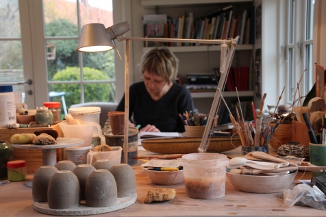 Eva Brandt In her Studio