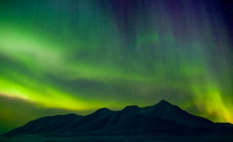 A Night's Sky Filled With The Aurora