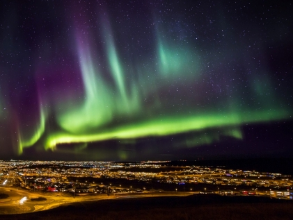 A Striking Display Of Northern Lights