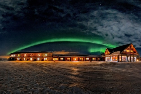Aurora Arched Over The Hotel Ranga