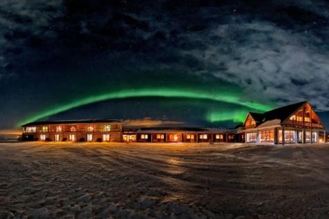 Aurora Arched Over The Hotel Ranga
