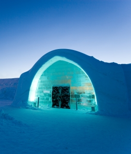 Snowmobile to the ICEHOTEL