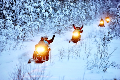 Join A Snowmobile Pack Ice Tour