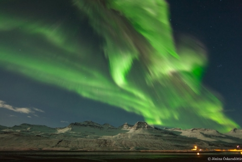 Northern Lights In Fáskrúdsfjördur