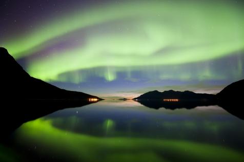 A Fantastic Display Of Aurora Over Kvaløya