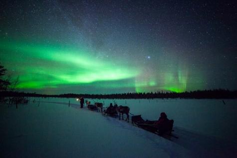 Shining Display Of Aurora