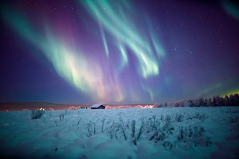 Witness The Northern Lights From Your Wilderness Cabin