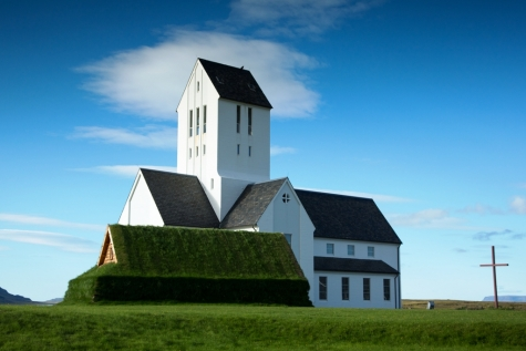 The White Church Cathedral Of Skalholt