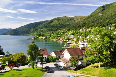 View over Balestrand Village