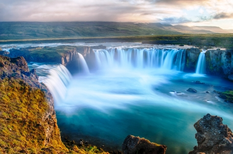 The Spectacular Waterfall In North Iceland