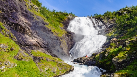 Pass The Magnificent Kjosfossen Waterfall