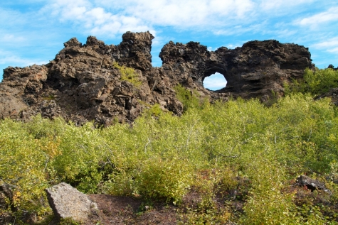 A Large Area Of Unusually Shaped Lava Fields