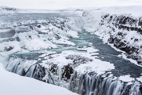 Winter Scenes At Gullfoss