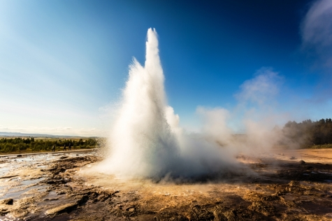 Strokkur Spouts Impressively Every 5 To 10 Minutes