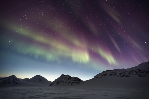 Northern Lights Above The Stunning Arctic Landscape