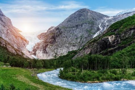 Take A Day Trip To The Briksdal Glacier
