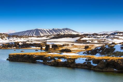 Volcanic Landscape Around The Myvatn Area