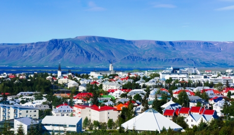 Beautiful Aerial View Of Reykjavik