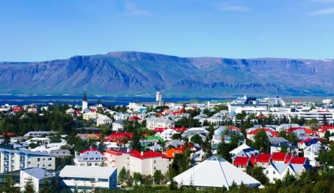 Beautiful Aerial View Of Reykjavik