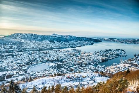 Winter Scenes Over Bergen