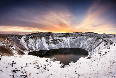 Discover The Kerid Crater Lake In South Iceland
