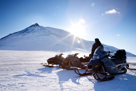 Snowmobile Through Spectacular Landscapes