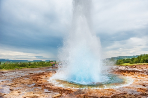 The Powerful Eruption Of Strokkur