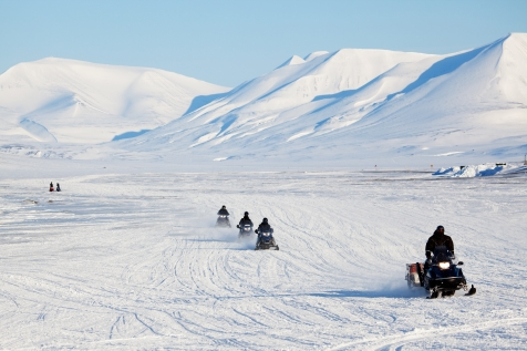 Snowmobile To The Unspoiled Nature Of Spitsbergen