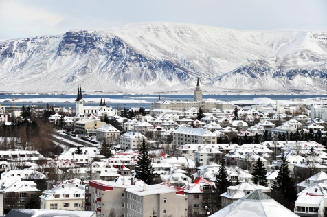 Winter View Over Reykjavik