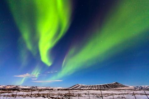 Swirl Of Aurora Over The Myvatn Area