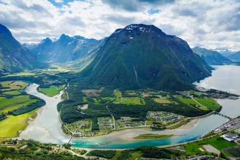 Panoramic View Of Andalsnes City