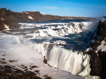 The Wonderful Waterfall Of Gullfoss