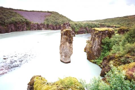 The Wild Water Stream Of River Hvita