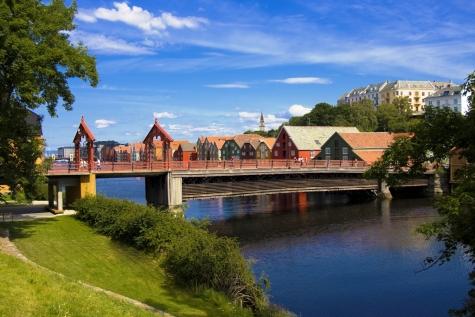 The Old Town Bridge In Trondheim