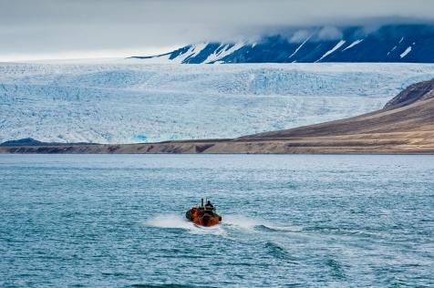 Sail Past the Calving Glacier Esmark