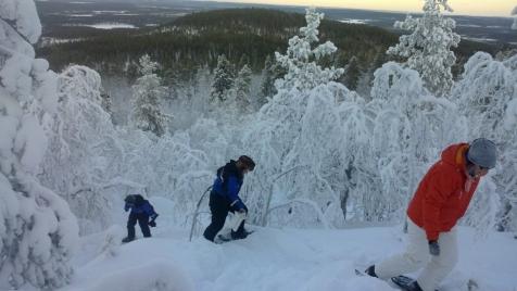 Snowshoeing In Nellim