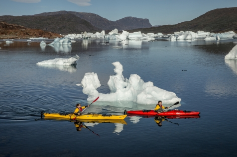 Kayak In The Iceberg Bay
