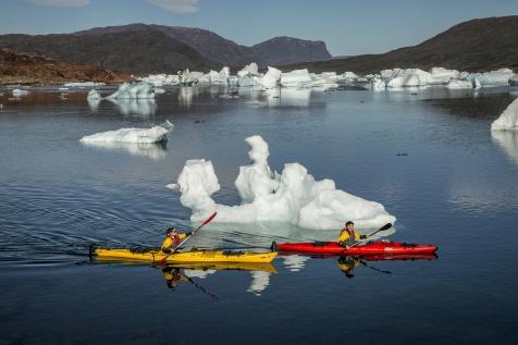 Kayak In The Iceberg Bay
