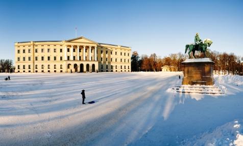 Winter Scenes Over Oslo