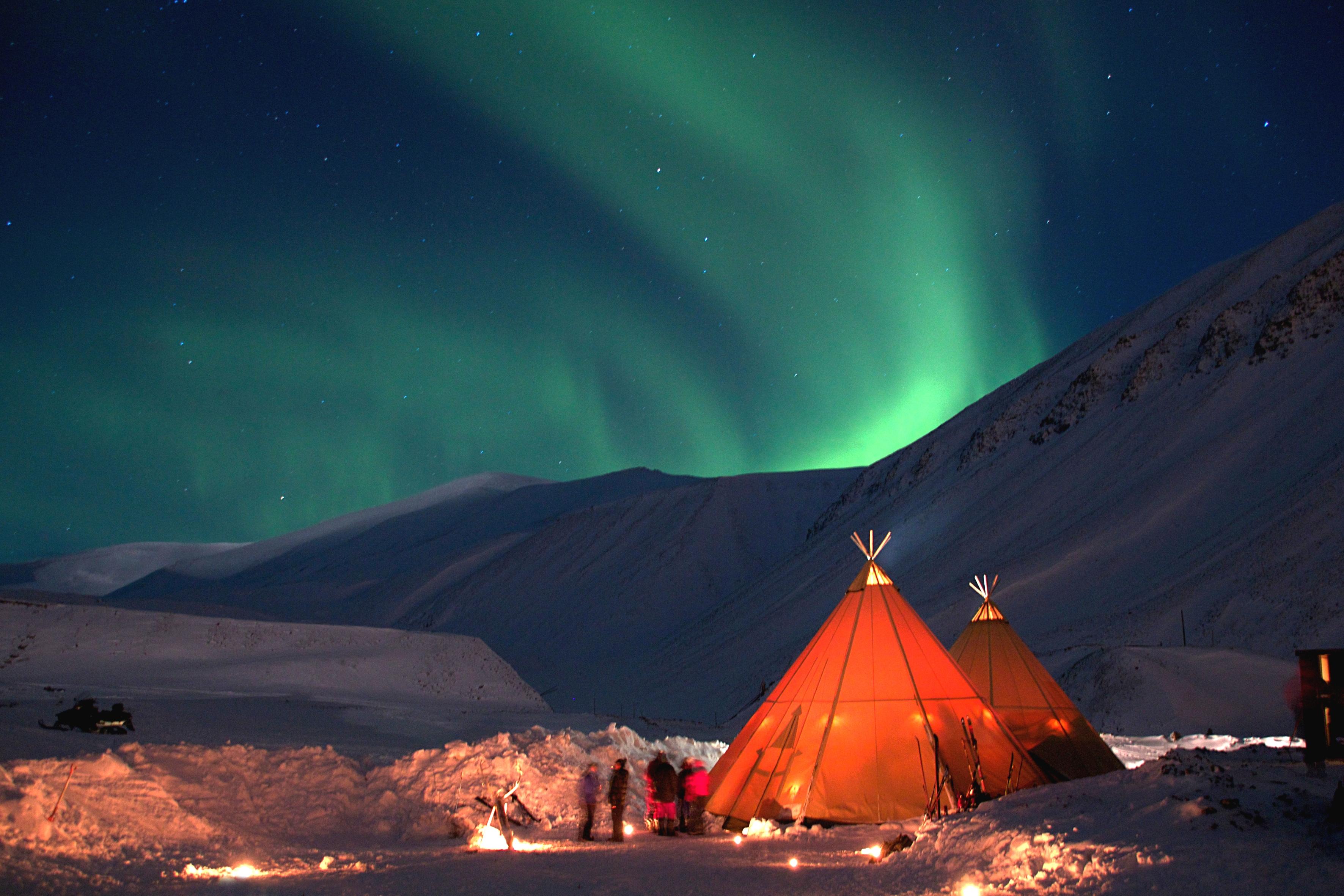 Aurora Over Teepee Nordic Experience
