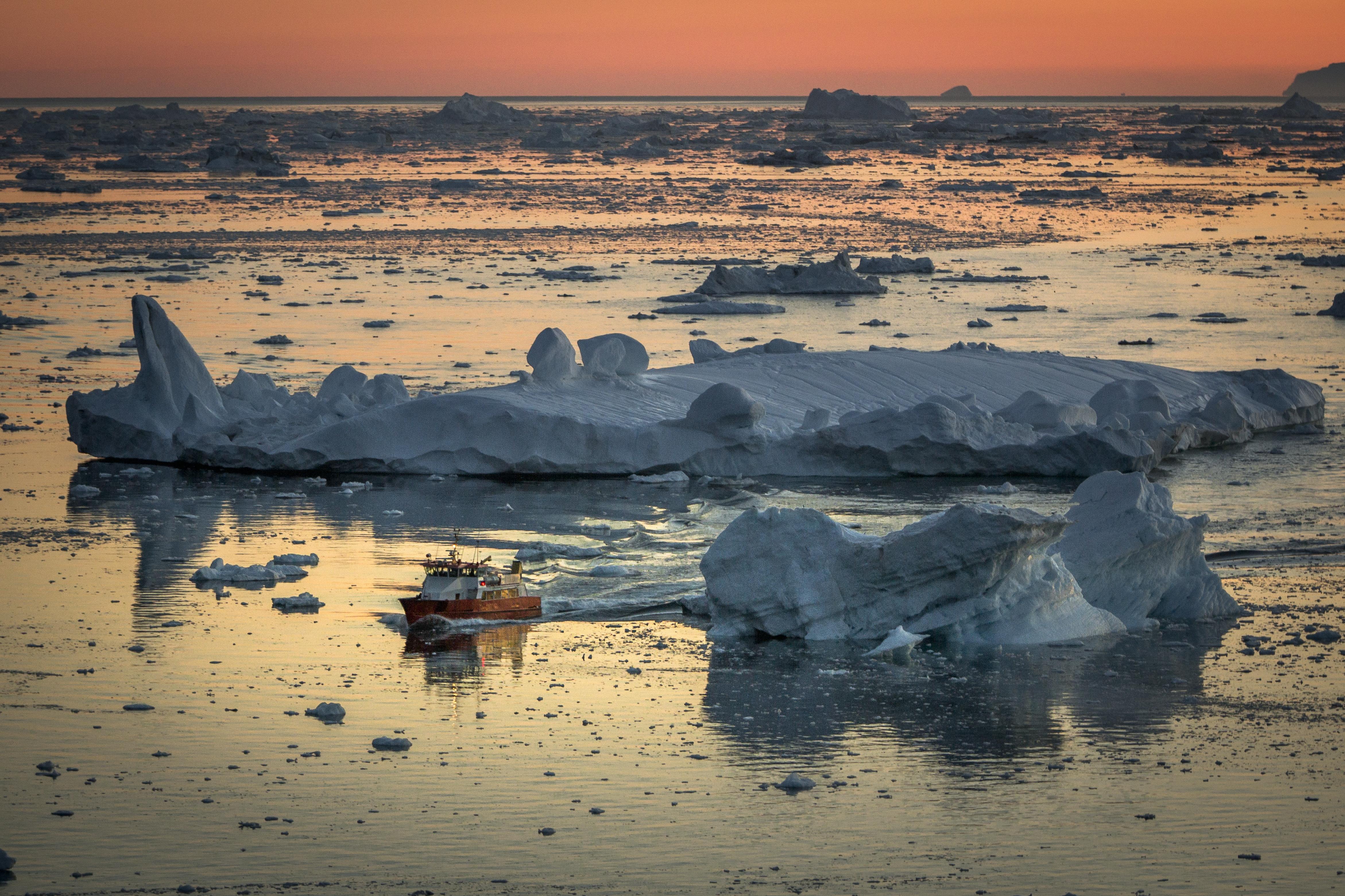 Greenland Midnight Sun