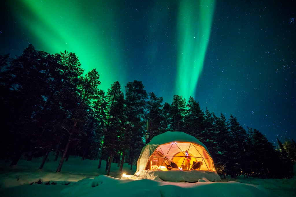 Aurora Domes At Harriniva Wilderness Lodge Nordic Experience